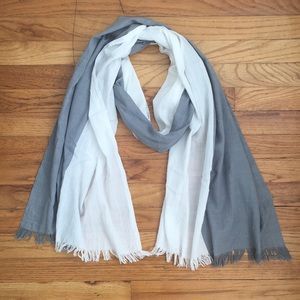 ABLE Colorblock Fringed Scarf